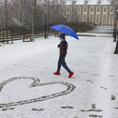Amiens sous la neige